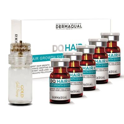 Dermaqual - DQ HAIR Home Care Set (5ampules + 1stamp)