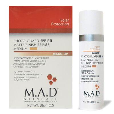 M.A.D Skincare Photo Guard SPF 50 Self-Adjusting Foundation Serum_medium