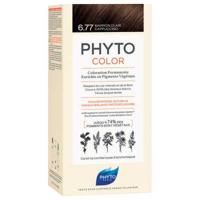 Phyto - Phytocolor 6.77 Light Brown Cappuccino Coloring